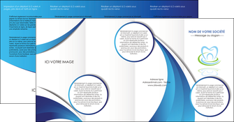 creation graphique en ligne depliant 4 volets  8 pages  dentiste dents dentiste dentier MLIG30977