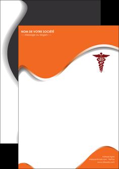maquette en ligne a personnaliser flyers chirurgien pharmacie hopital medecin MIF31065