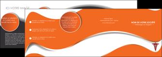 maquette en ligne a personnaliser depliant 4 volets  8 pages  chirurgien pharmacie hopital medecin MIF31067