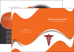 modele depliant 2 volets  4 pages  chirurgien pharmacie hopital medecin MIF31071