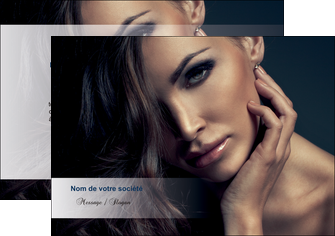 maquette en ligne a personnaliser flyers cosmetique coiffeur a domicile salon de coiffure salon de beaute MLGI31275