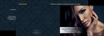 modele en ligne depliant 2 volets  4 pages  cosmetique coiffeur a domicile salon de coiffure salon de beaute MLGI31285