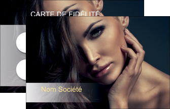 imprimer carte de visite cosmetique coiffeur a domicile salon de coiffure salon de beaute MLGI31291