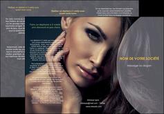 imprimer depliant 3 volets  6 pages  cosmetique beaute bien etre coiffure MLGI31375