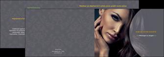maquette en ligne a personnaliser depliant 2 volets  4 pages  cosmetique beaute bien etre coiffure MLGI31389