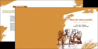 maquette en ligne a personnaliser depliant 2 volets  4 pages  boulangerie pains boulangerie boulanger MLGI31455