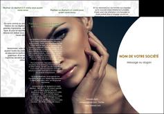 creer modele en ligne depliant 3 volets  6 pages  cosmetique beaute bien etre coiffure MLGI31509