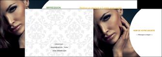 imprimerie depliant 2 volets  4 pages  centre esthetique  beaute bien etre coiffure MLGI31521