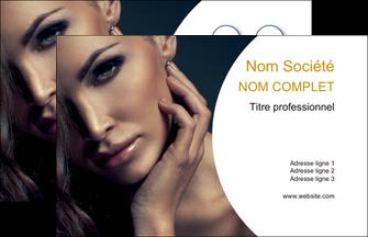 personnaliser maquette carte de visite cosmetique beaute bien etre coiffure MLGI31529
