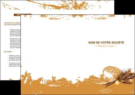 faire depliant 2 volets  4 pages  boulangerie pains boulangerie boulanger MIF31537