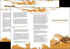 personnaliser maquette depliant 3 volets  6 pages  boulangerie pains boulangerie boulanger MIF31553