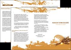 realiser depliant 3 volets  6 pages  boulangerie pains boulangerie boulanger MIF31555