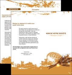 personnaliser modele de depliant 2 volets  4 pages  boulangerie pains boulangerie boulanger MIF31563