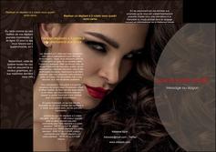 imprimerie depliant 3 volets  6 pages  centre esthetique  beaute bien etre coiffure MLGI31649
