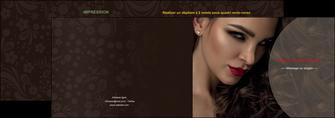 imprimerie depliant 2 volets  4 pages  centre esthetique  beaute bien etre coiffure MLGI31663