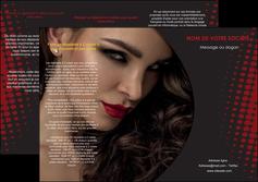 imprimer depliant 3 volets  6 pages  centre esthetique  coiffeur a domicile salon de coiffure salon de beaute MLGI31753