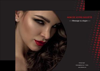 personnaliser modele de affiche centre esthetique  coiffeur a domicile salon de coiffure salon de beaute MLGI31755