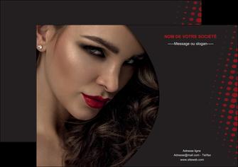 realiser affiche centre esthetique  coiffeur a domicile salon de coiffure salon de beaute MLGI31763