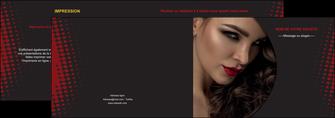 modele en ligne depliant 2 volets  4 pages  centre esthetique  coiffeur a domicile salon de coiffure salon de beaute MLGI31767