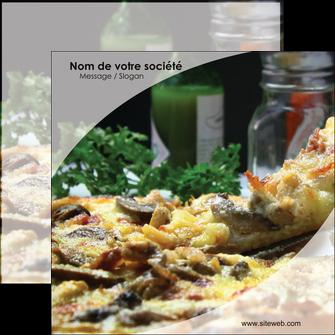 personnaliser maquette flyers pizzeria et restaurant italien pizza pizzeria restaurant italien MLGI31861
