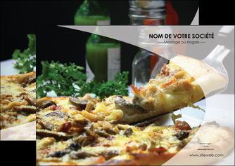 maquette en ligne a personnaliser flyers pizzeria et restaurant italien pizza pizzeria restaurant italien MLGI31867