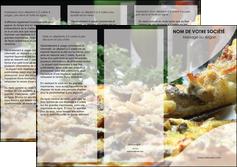 impression depliant 3 volets  6 pages  pizzeria et restaurant italien pizza pizzeria restaurant italien MLGI31869