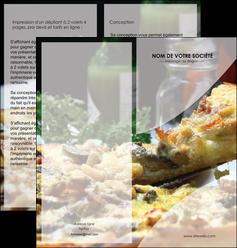 modele en ligne depliant 2 volets  4 pages  pizzeria et restaurant italien pizza pizzeria restaurant italien MLGI31875