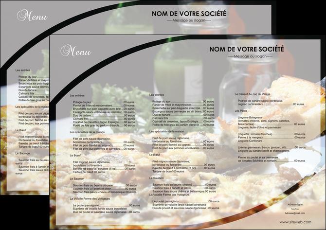 modele en ligne set de table pizzeria et restaurant italien menu pizza pizzeria restaurant italien MLGI31877