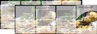 impression depliant 4 volets  8 pages  pizzeria et restaurant italien pizza pizzeria restaurant italien MLGI31879