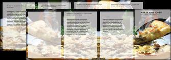 personnaliser maquette depliant 4 volets  8 pages  pizzeria et restaurant italien pizza pizzeria restaurant italien MLGI31881