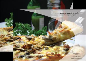 imprimerie flyers pizzeria et restaurant italien pizza pizzeria restaurant italien MLGI31883