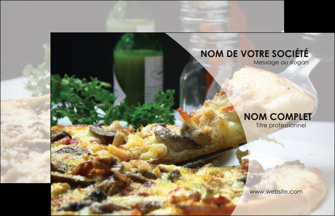 Imprimer Carte De Visite Pizzeria Et Restaurant Italien Pizza MLGI31889