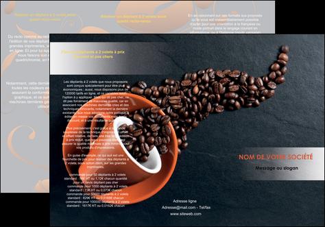 modele depliant 3 volets  6 pages  bar et cafe et pub cafe bar torrefacteur MLGI31971