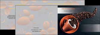 personnaliser modele de depliant 2 volets  4 pages  bar et cafe et pub cafe bar torrefacteur MLGI31983