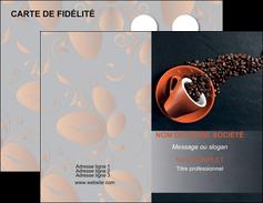 Commander Carte de fidélité Bar & Café & Pub Carte commerciale de fidélité modèle graphique pour devis d'imprimeur Carte de visite Double - Portrait