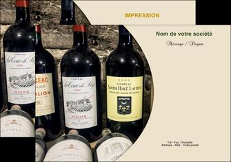 imprimer flyers vin commerce et producteur caviste vin vignoble MLIG32001