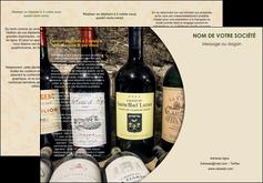 imprimer depliant 3 volets  6 pages  vin commerce et producteur caviste vin vignoble MLIG32003