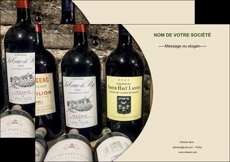 creer modele en ligne affiche vin commerce et producteur caviste vin vignoble MLIG32005