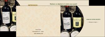 faire depliant 2 volets  4 pages  vin commerce et producteur caviste vin vignoble MLIG32011
