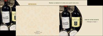 faire depliant 2 volets  4 pages  vin commerce et producteur caviste vin vignoble MLIG32013