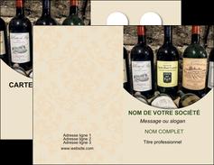 creer modele en ligne carte de visite vin commerce et producteur caviste vin vignoble MLIG32021