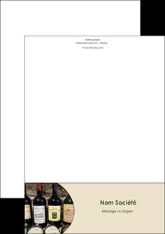 imprimer tete de lettre vin commerce et producteur caviste vin vignoble MLIG32023