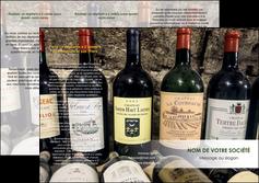 realiser depliant 3 volets  6 pages  vin commerce et producteur caviste vin vignoble MLIG32063