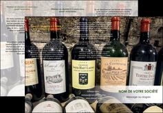 modele en ligne depliant 3 volets  6 pages  vin commerce et producteur caviste vin vignoble MLIG32067