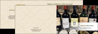faire modele a imprimer depliant 2 volets  4 pages  vin commerce et producteur caviste vin vignoble MLIG32075