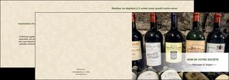 modele en ligne depliant 2 volets  4 pages  vin commerce et producteur caviste vin vignoble MLIG32077