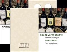 personnaliser maquette carte de visite vin commerce et producteur caviste vin vignoble MLIG32085