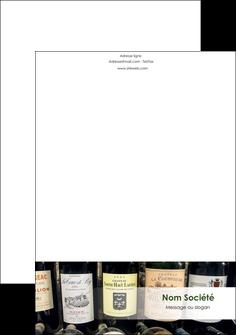 personnaliser maquette tete de lettre vin commerce et producteur caviste vin vignoble MLIG32087