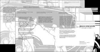 personnaliser maquette depliant 4 volets  8 pages  garage concessionnaire automobile reparation de voiture MIS32141