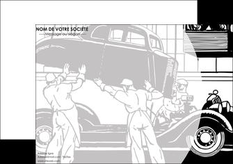 modele en ligne affiche garage concessionnaire automobile reparation de voiture MIS32143